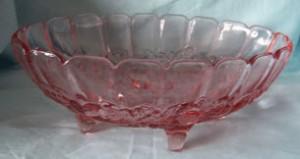 pink vintage indiana bowl
