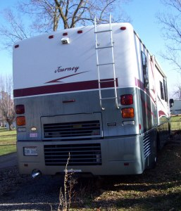 diesel pusher back view rv