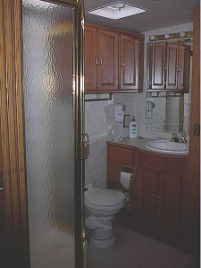 view of door to shower