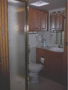 view of door to shower